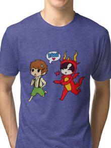 Hob!John and Smaug!lock Tri-blend T-Shirt