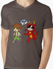Hob!John and Smaug!lock Mens V-Neck T-Shirt