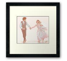 Ten/Rose Wedding Framed Print