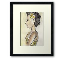 Flower in Hair Framed Print