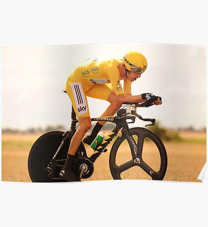 Bradley Wiggins, Tour de France Champion 2012 Poster