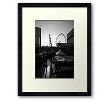 London Marketplace at Sunset Framed Print