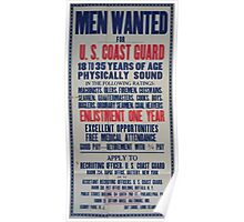 Men wanted for US Coast Guard 002 Poster