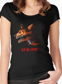 Foxy Five Nights At Freddy's - With Text Women's Fitted Scoop T-Shirt