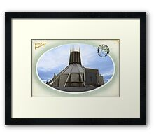 Liverpool Metropolitan Cathedral - Hand Tinted Framed Print