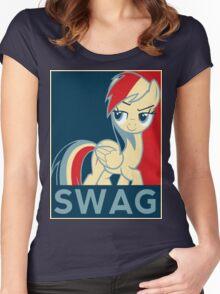 Rainbow Dash Communist Swag Women's Fitted Scoop T-Shirt