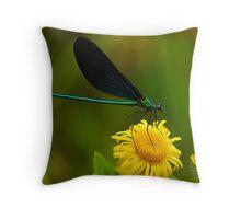 perching flower Throw Pillow