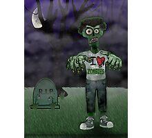 I <3 Zombies Photographic Print