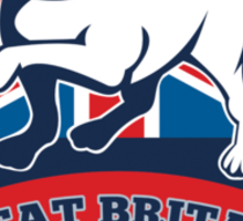English bulldog Team Great Britain mascot Sticker
