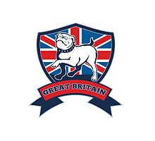 English bulldog Team Great Britain mascot by patrimonio