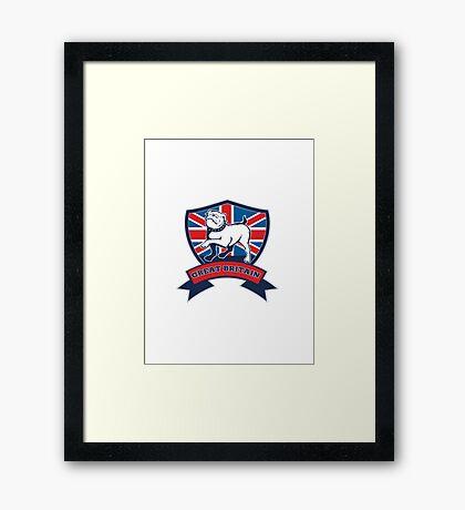 English bulldog Team Great Britain mascot Framed Print