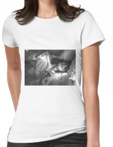 Nude Girl - NudeART Womens Fitted T-Shirt