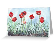 Poppies mean Spring! Greeting Card