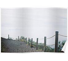 Hazy fence Poster