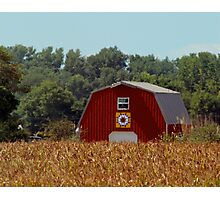 Indiana  Barn Quilt Photographic Print
