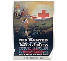 Men wanted over 31 years of age for American Red Cross foreign service Poster