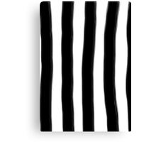 Black and White Paintbrush Stripes Canvas Print