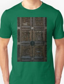 Carved Wooden Door - Ancient Church - Lion Knocker Photo T-Shirt