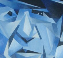 Cubist Portrait of Pablo Picasso: The Blue Period Sticker