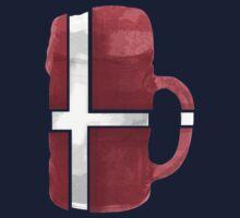 Denmark Beer Flag by Herbert Shin