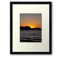 Twilight Oasis Framed Print