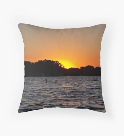 Twilight Oasis Throw Pillow
