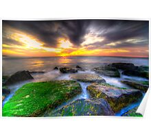 Sunrise on the rocks Poster