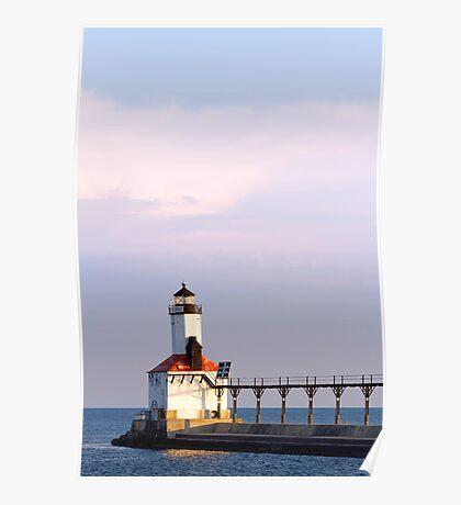East Pierhead Light, Michigan City, Indiana Poster