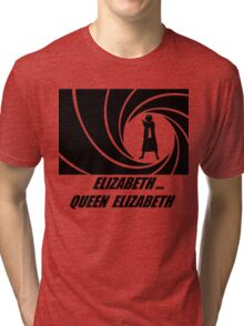 007 & Her Majesty Tri-blend T-Shirt
