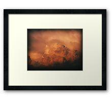 Cumulus Red Framed Print