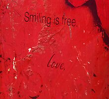 Smiling is Free- iPhone case by Jeananne  Martin