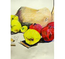 butternut with pink and yellow fruit Photographic Print