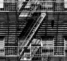 Fire escapes at noon Sticker