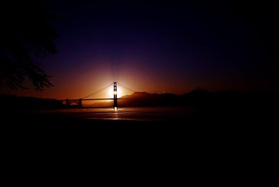 Sunset on Golden Gate (Dark) by YlemPhotography