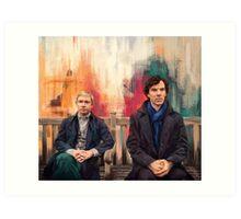 Watson & Sherlock Art Print