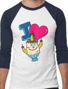 I Love Triple Goober-Berry Sunrise  Men's Baseball ¾ T-Shirt