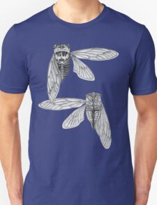Cicada Study in Black and White Unisex T-Shirt