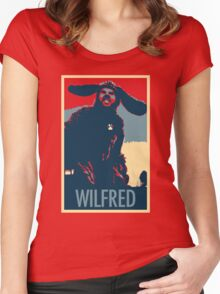 WILFRED - Posterized Women's Fitted Scoop T-Shirt