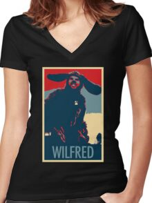 WILFRED - Posterized Women's Fitted V-Neck T-Shirt