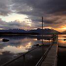Beautiful Lake Te Anau. South Island, New Zealand by Ralph de Zilva