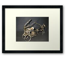 Follow that Cab. Sherlock Holmes Gives Chase Framed Print