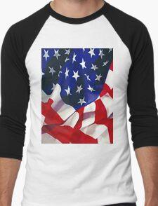 Flag United States of America Men's Baseball ¾ T-Shirt