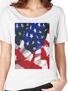 Flag United States of America Women's Relaxed Fit T-Shirt