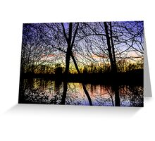 Colorful River Sunset Greeting Card