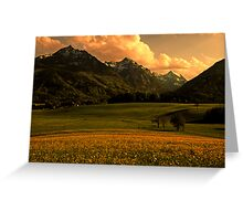 The Sun Never Sets Greeting Card
