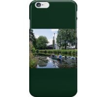Canoeing Along The Exeter Canal iPhone Case/Skin
