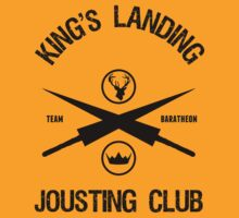 TEAM BARATHEON JOUSTING CLUB GAME OF THRONES by chadkins