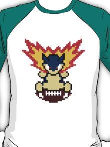 Typhlosion on a football T-Shirt
