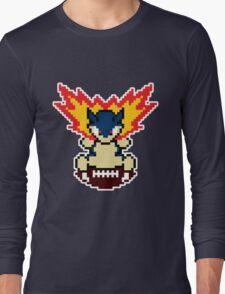 Typhlosion on a football Long Sleeve T-Shirt