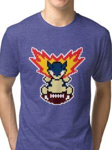 Typhlosion on a football Tri-blend T-Shirt